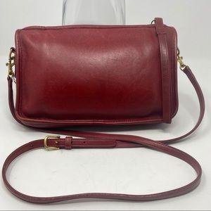 Coach Vintage Red Leather Purse Bag
